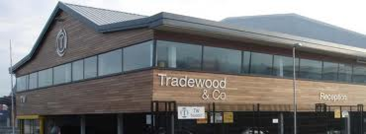 Architect designed factory for Tradewood, Duncrue, Belfast, County Antrim.